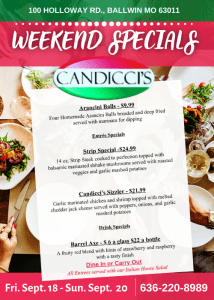Candicci's Restaurant Weekend Specials